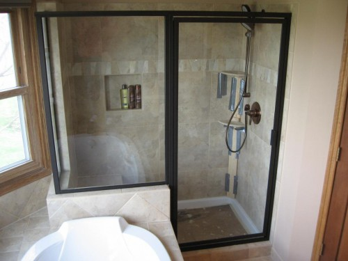 : semi frameless shower doors