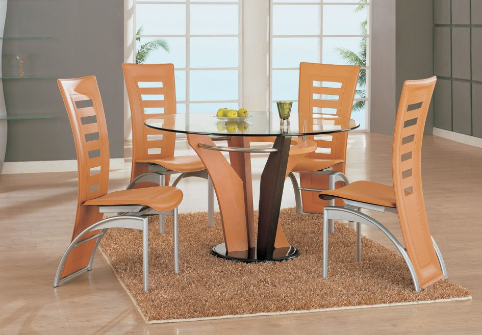 awesome-orange-plastic-contemporary-dining-room-chairs-metal-dining-room-chairs-frame-tempered-glass-round-bistro-table-triple-solid-wood-bas