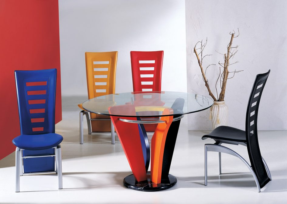 beautiful-colorful-plastic-contemporary-dining-room-chairs-metal-dining-room-chairs-frame-round-glass-dining-table-top-colorful-metal-dining