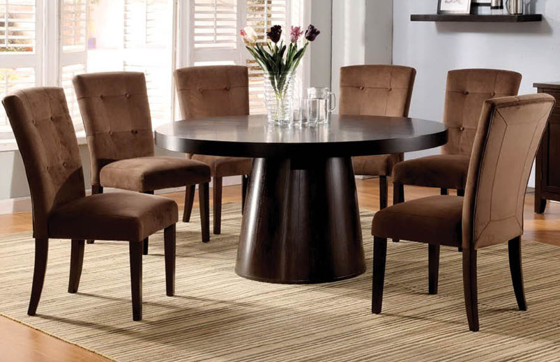 Modern round dining room table home design for Modern large round dining table
