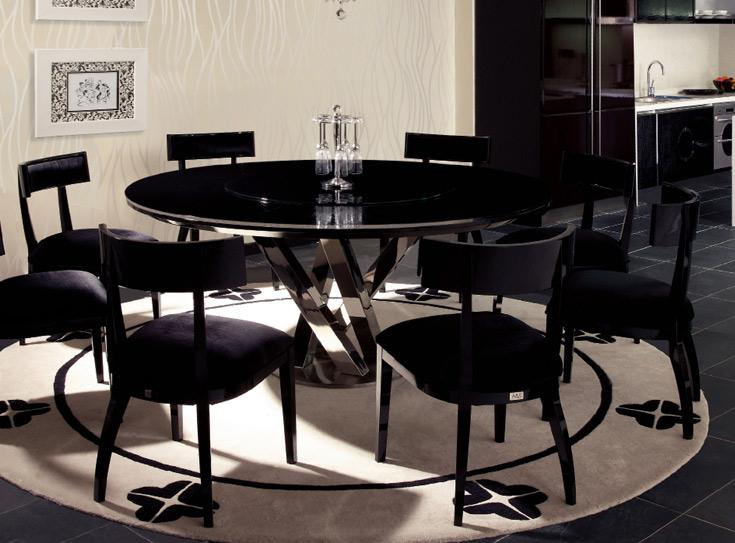 contemporary-black-round-glass-dining-table-ideas