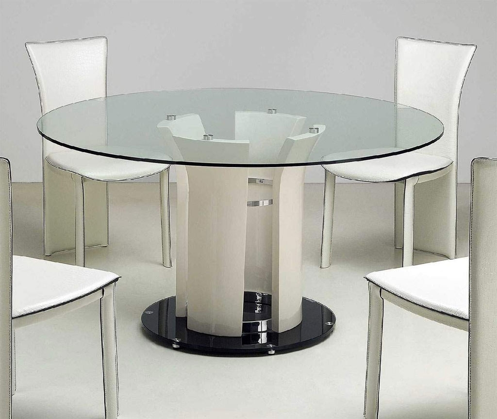 modern exotic solid black round dining table design for luxury  throughout modern round dining table for 8 At Detroit
