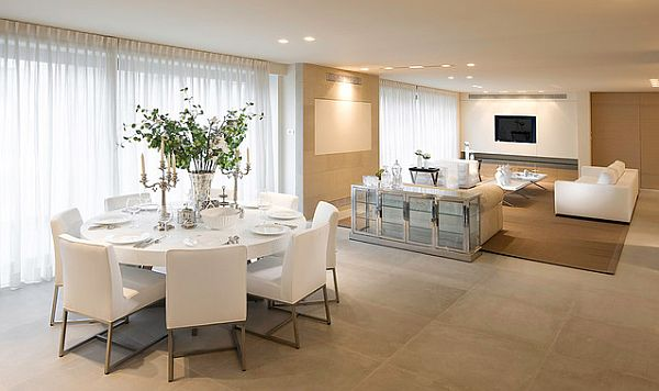 contemporary-white-round-dining-table-and-chairs