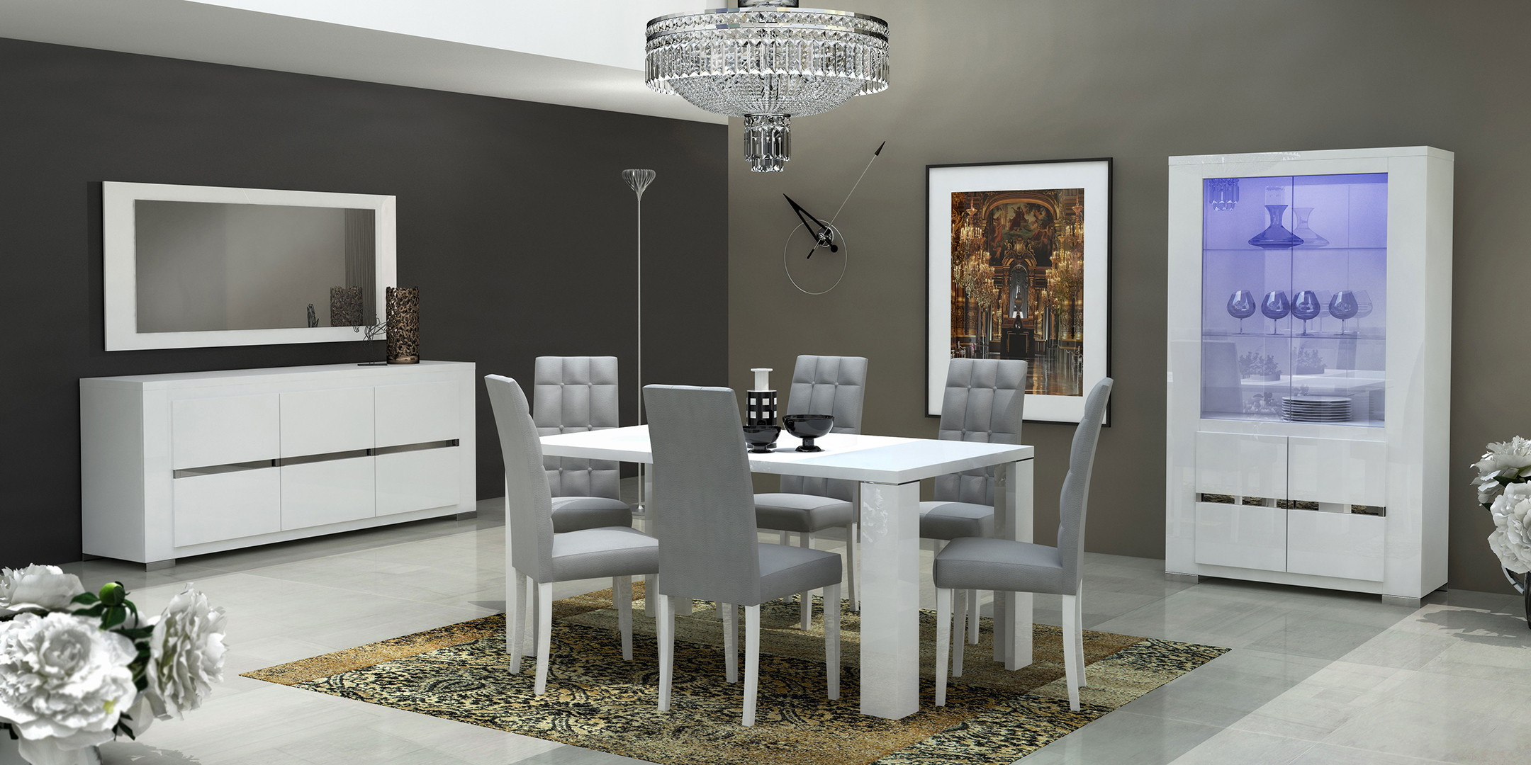 contemporary dining room sets italian in wood top with fabric  -  contemporary dining room sets italian