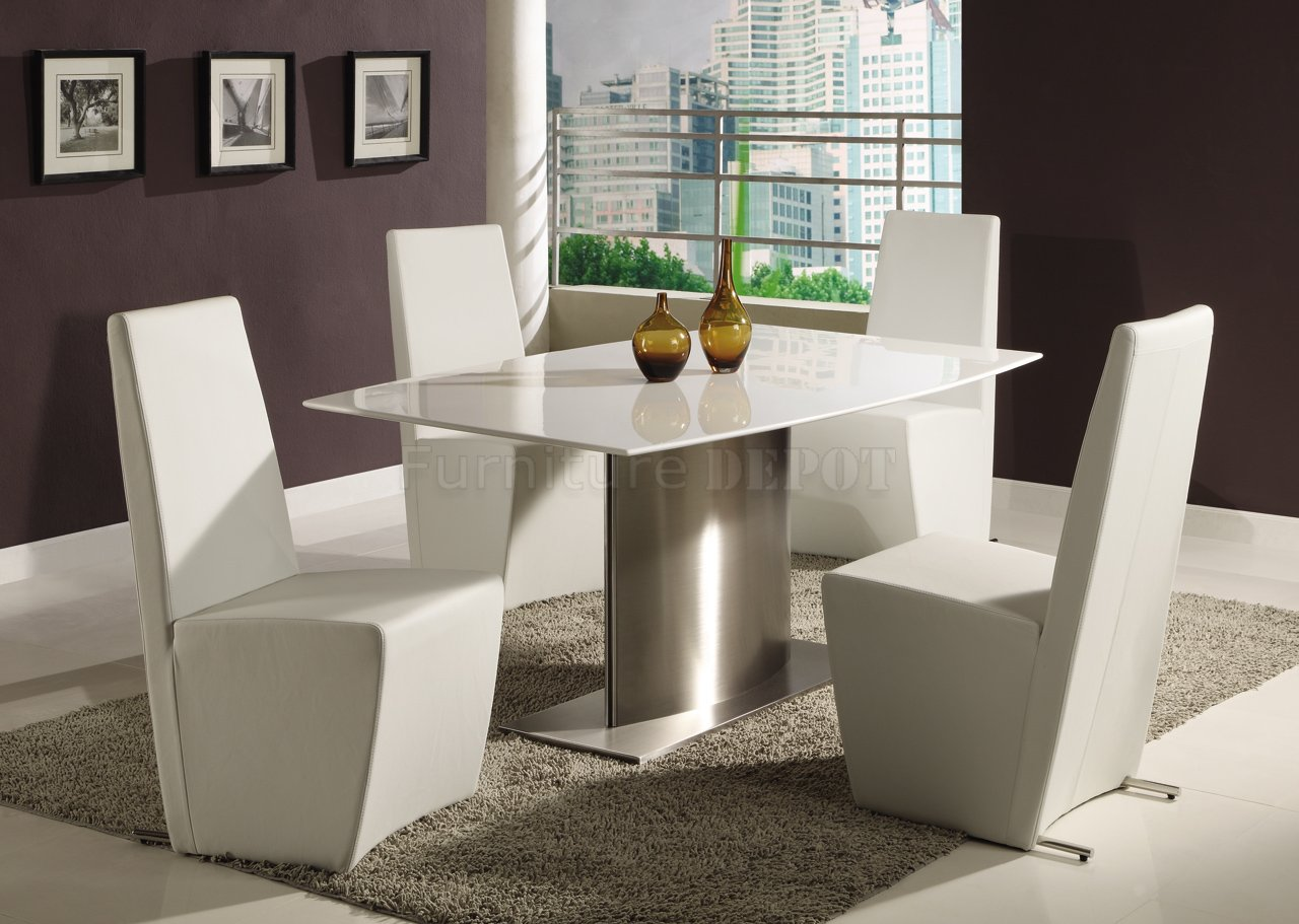 Luxury Marble Top Dining Table And Simple Pictures With Modern Dining Chairs