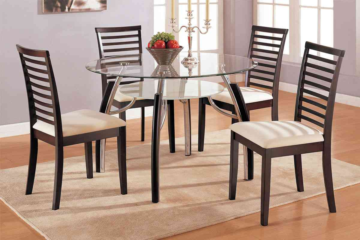 Dining table top design ideas - Neutral Formal Dining Room Chairs Black