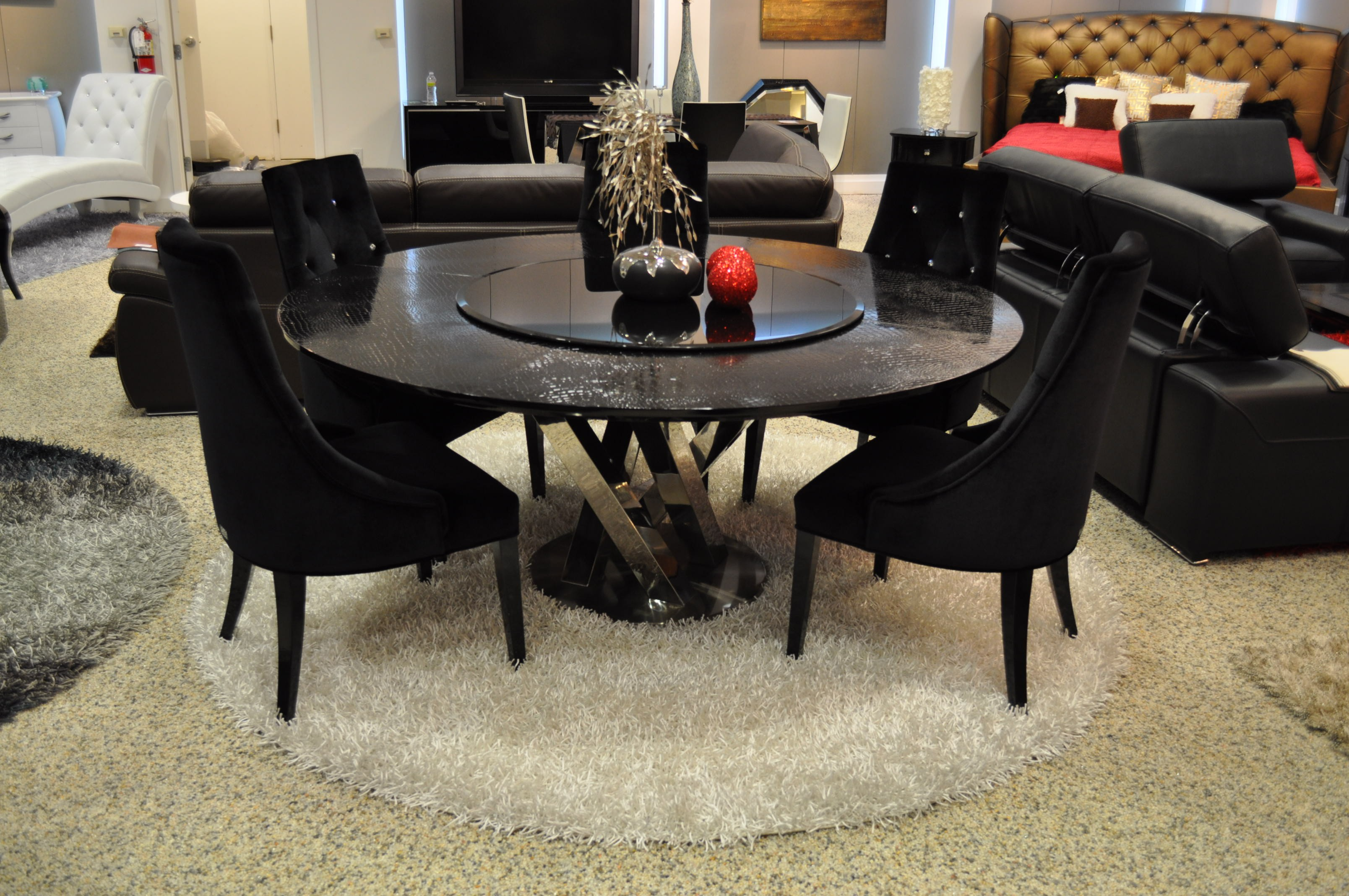 Espresso Round Dining Table Inspiration Room Astonishing