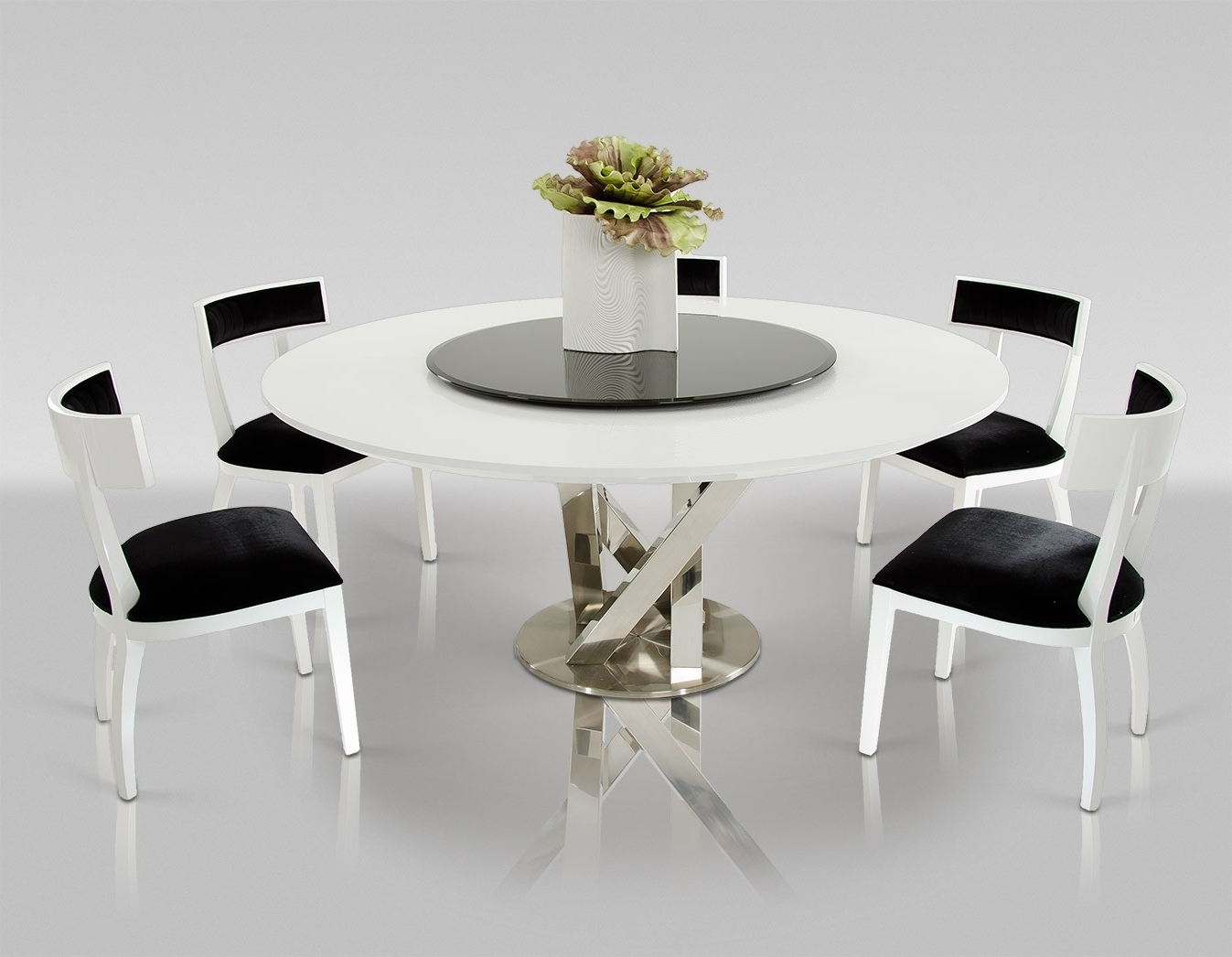 useful tips on the size of modern dining table   la furniture blog with modern round dining table for 8 At Detroit - Kitchen Furniture and Designs Dream
